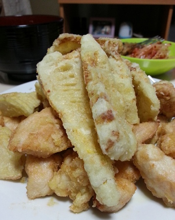 Bamboo Shoots: Tempura (deep-fried)
