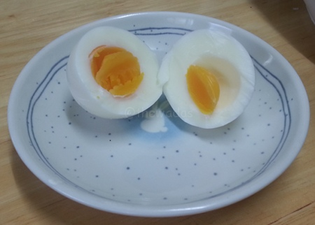 Hard Boiled Egg: Peeled and ready to eat!