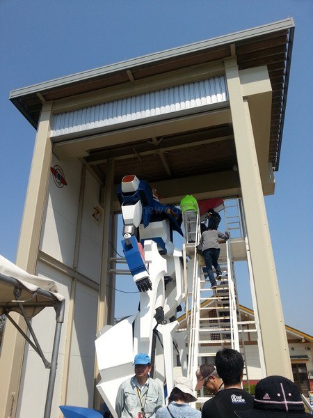 Gundam ride in Okayama ladder