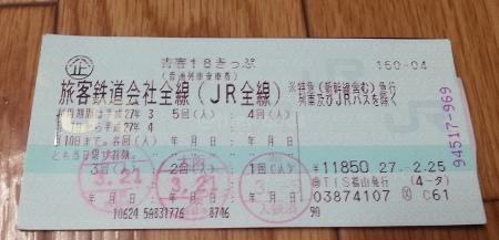 Seishun 18 Ticket: Stamped