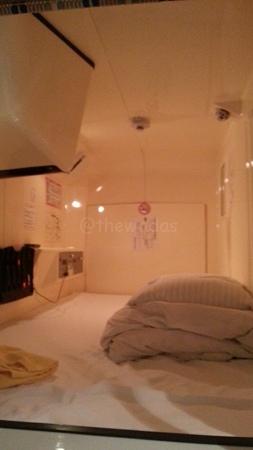 Capsule Hotel - capsule inside