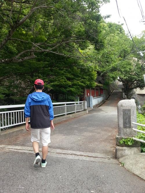 Shizukatei Tea Garden in Kobe:: Path - first bridge