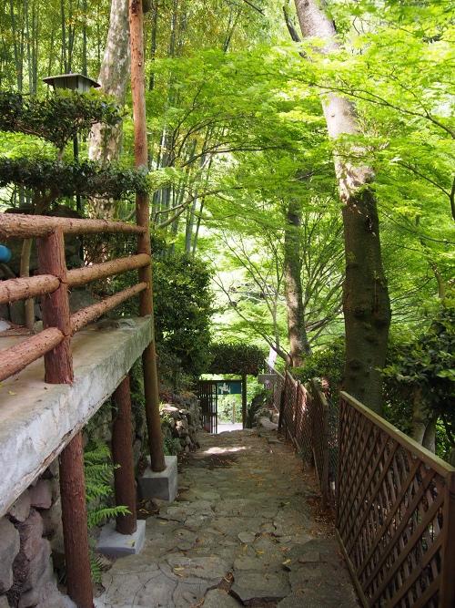 Kobe Tea Garden in Kobe: Shizukatei - from inside
