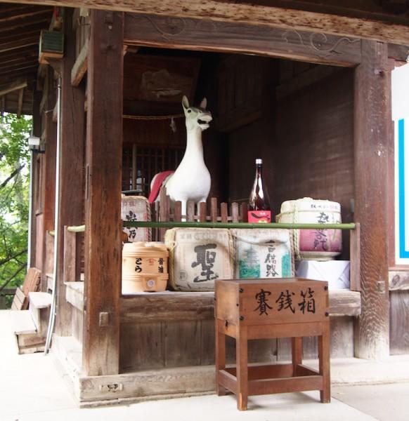 Kibitsu Shrine, Okayama City: Horse statue