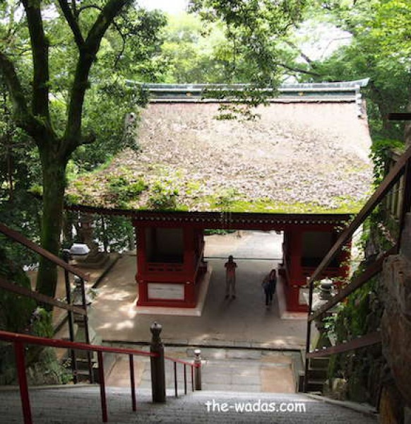 Kibitsu Shrine, Okayama: View from above