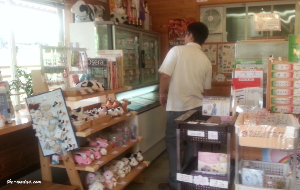 Masuda Dairy Farm, Okayama: Souvenir Shop (Gelato)