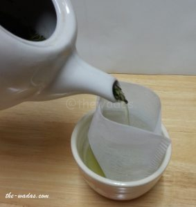 Super Green Tea: Steps - strain