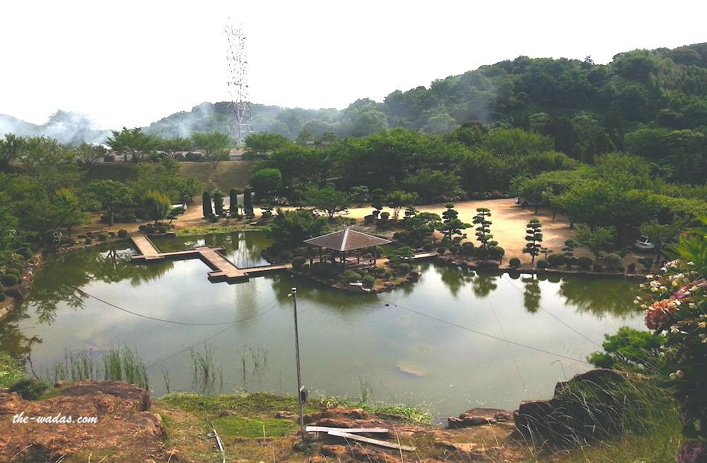 Tanematsuyama Park, Kurashiki City: Pond view