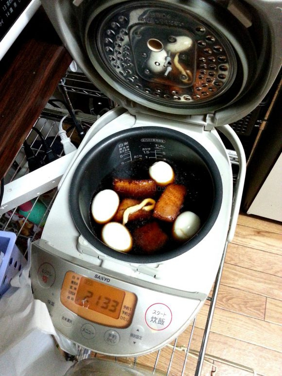 Kakuni pork belly in rice cooker
