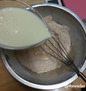 Cinnamon-kinako flavor Uiro: mix ingredients