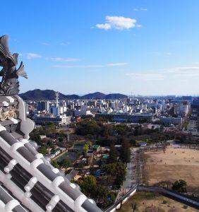 View of Himeji city