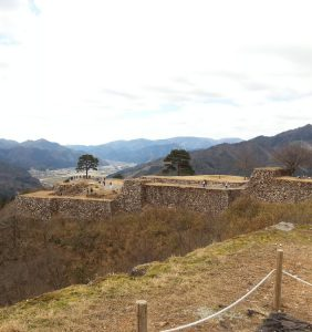 Takeda Castle Ruins view