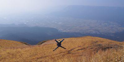 Mt. Aso best view, Daikanbou high jump