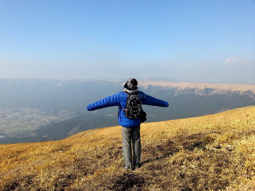 Kumamoto Trip, Mt. Aso: great view in Daikanbou