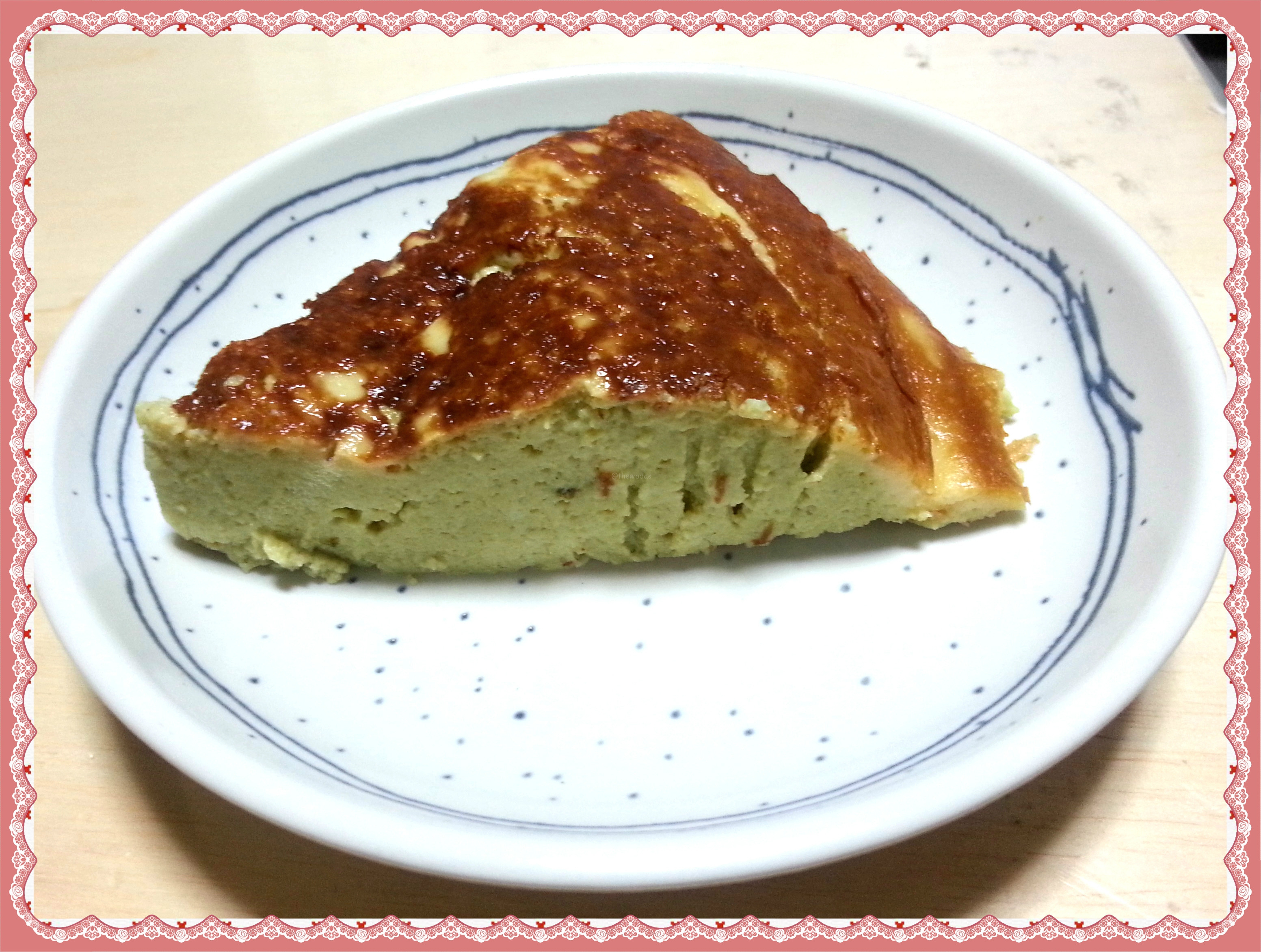 Rice cooker recipes: matcha cheese cake - featured image