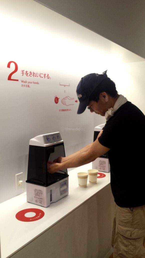 The Instant Ramen Museum: My Cup Noodles Factory - Step 1: Wash your hands
