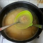 4. Mix Miso with soup.