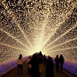 Winter Illuminations in Japan: Nabana no Sato light tunnel