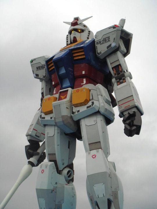 Life-Size Gundam Statue in Shizuoka