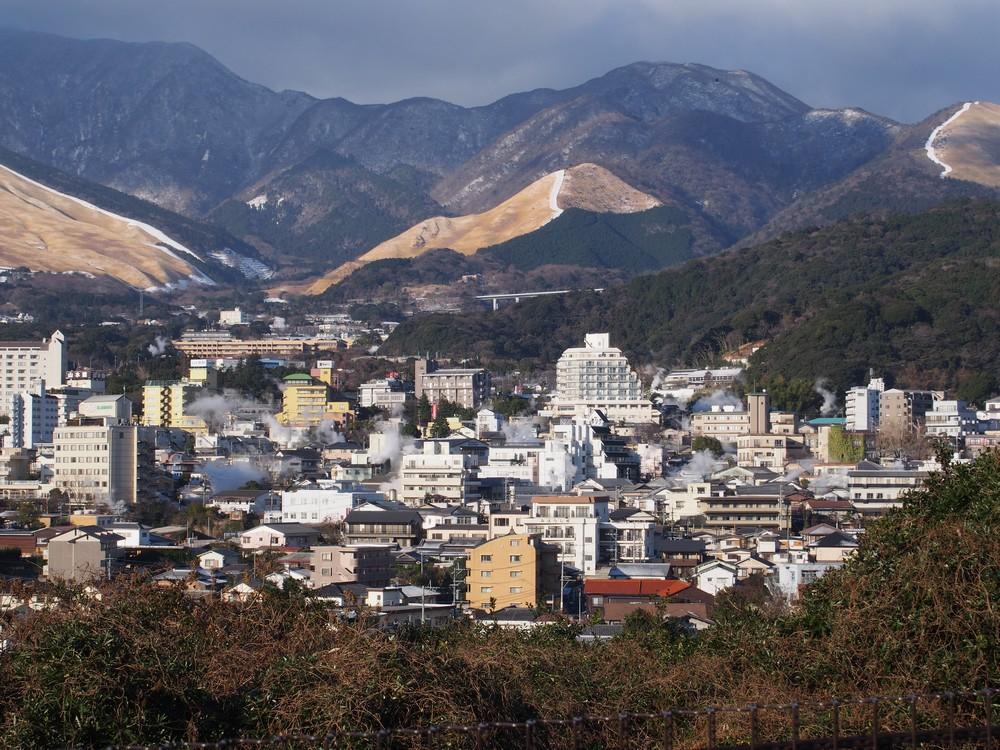 beppu onsen view