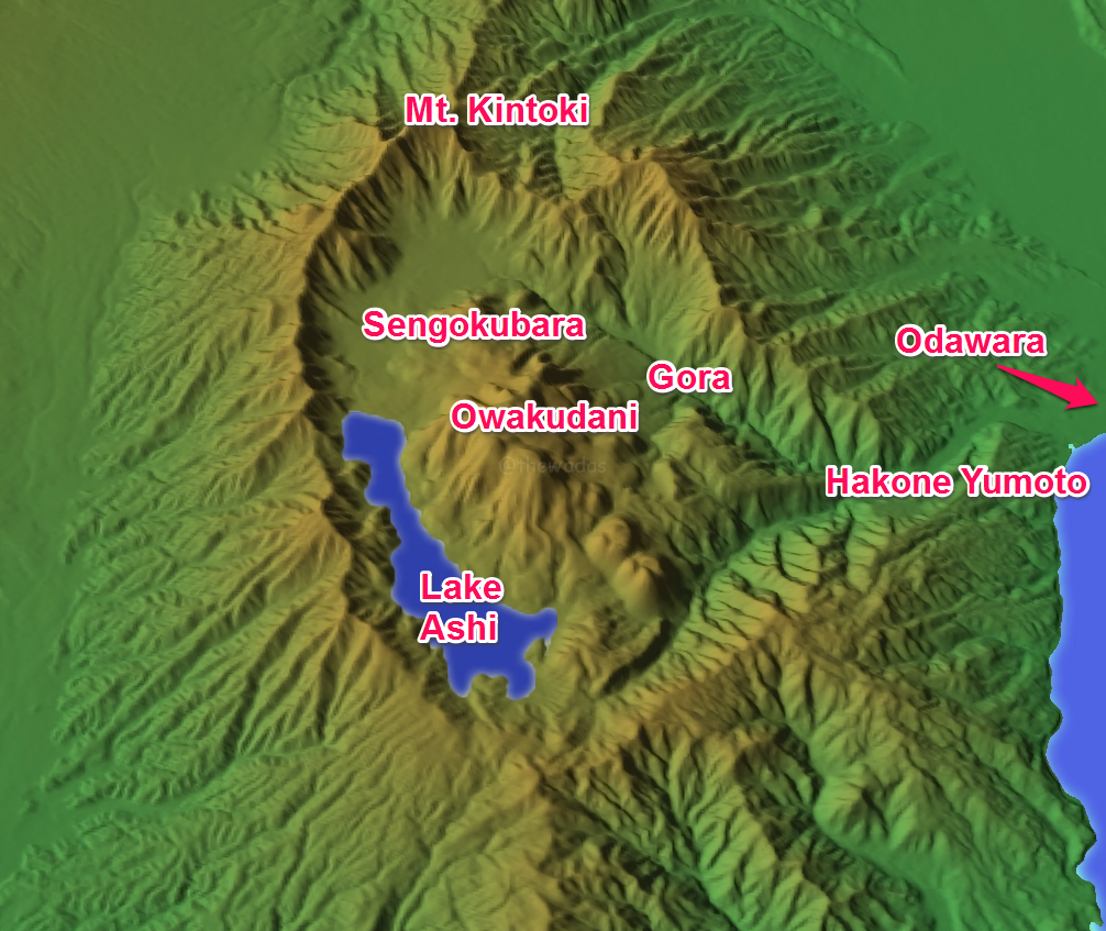 map of hakone