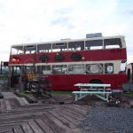 Montague: The Double-Decker Bus Cafe in Okayama