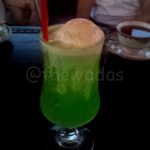 Melon soda (with ice cream on top)