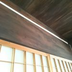 Ceiling, brushed with kakishibu (persimmon tannin)