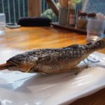 Grilled fish on stick!