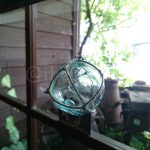 Glass ball decor (cute!), one way to make use of the glass balls