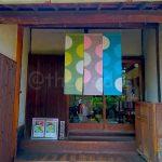 Cafe entrance with cute noren design