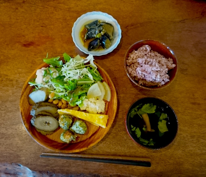 Kurashiki Sabo Ouka Cafe - first round (salad and others)