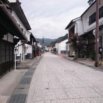 Capibara Coffee in Katsuyama: Katsuyama Historical Preservation District main street