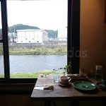 Capibara Coffee in Katsuyama: window seat