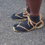 Usual shoes in samurai era (made of hay)