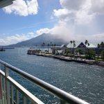 There goes Sakurajima.